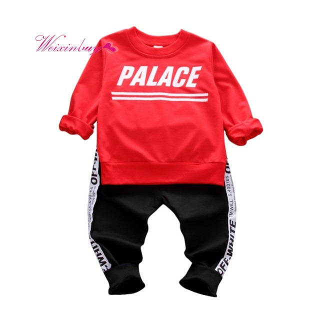 Fashion Letters Spring Autumn Baby Boy Clothes Sportswear + Sports Pants  Children s Girl Boys  Clothing Brand Clothing Sets a0243db1d