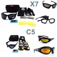 Армейские очки солнцезащитные очки Для мужчин Военные очки мужской 4 объектива Комплект для Для мужчин войны Тактическая игра C5 X7 очки уличный Спорт Охота