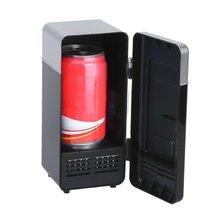 Черный ABS 5V 10W USB 19,4*9*9 см автомобильный мини-холодильник автомобиль портативный холодильник для напитков лодка дорожный холодильник для косметики высокое качество