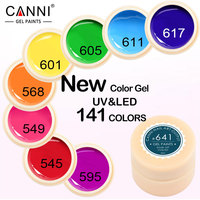 High Quality CANNI Soak Off Paints 5ml UV LED Solid Painting Gel Nail Art Design Output