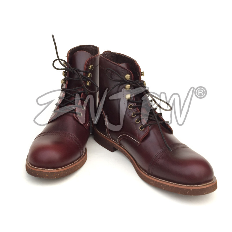 WW2 USMC US Army 101 Cockerman Short Boots Combat Shoes Tactical Leather Brown ботинки usmc американской морской пехоты