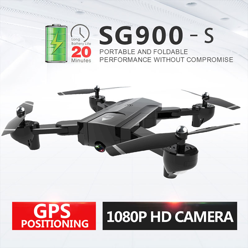 Full HD 720P/1080P Camera Drone RC Airplanes Quadcopter Headless 2.4GHz FPV GPS positioning RC Drone With Extra Battery image