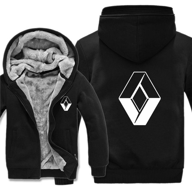 Hoodies Jacket Renault Coat Sweatshirts Pullover Logo Print Fleece Winter Unisex Casual