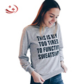 Trendy Casual Letter Pattern Loose Women Sweatshirts Clothing Long Sleeve Stylish Round Neck Winter Pullovers Overalls