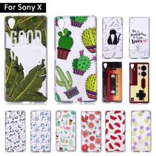 Cartoon TPU Case Cover For Sony Xperia X F5121 F5122 Back Shells for SonyX XperiaX F 5121 5122 Cases Soft Silicone Shells Coque(China)