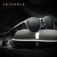 VEITHDIA Unisex Retro Aluminum Magnesium Brand Sunglasses Polarized Lens Vintage Eyewear Accessories Sun Glasses Men Women