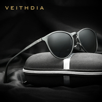 Veithdiaユニセックスレトロアルミマグネシウムブランドサングラス偏光レンズヴィンテージ眼鏡ドライビングサングラス男性/女
