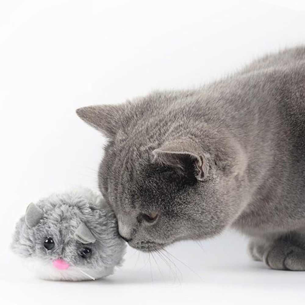 4 peças Mice & Animal Brinquedos Bin, Interativo Cat Plush Toy Set, ouriços Kitty Kitten Pet Patos Exercícios Jogar Por Diversão Sem Fim