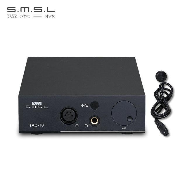 SMSL SAP-10 HI-FI Headphone Amplifier Full Balanced Output XLR and RCA Input Built-in Linear Power Supply TPA1620A2 Chips Black 5