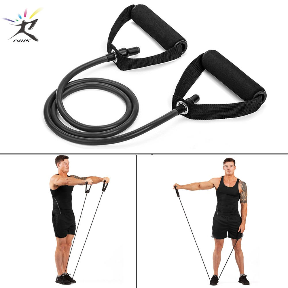 120cm Yoga Pull Rope Elastic Resistance Bands Fitness Rope Rubber Bands for Fitness Equipment Expander Exercise Tube Training