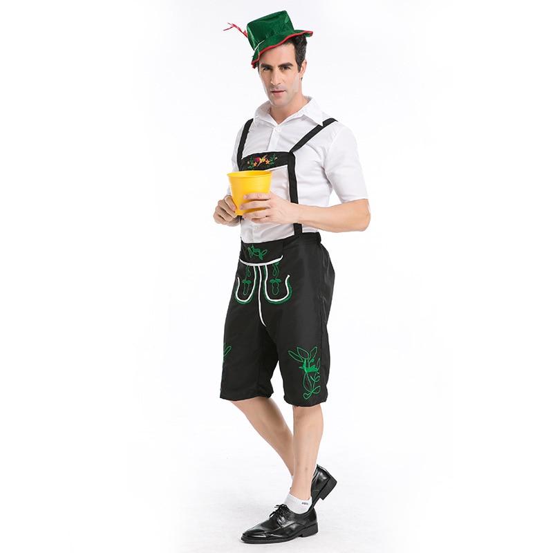 Adults Oktoberfes Costumes Men Halloween Costumes Men Beer Festival Suit Beer Men Halloween Cosplay Costumes 3 PCS Set