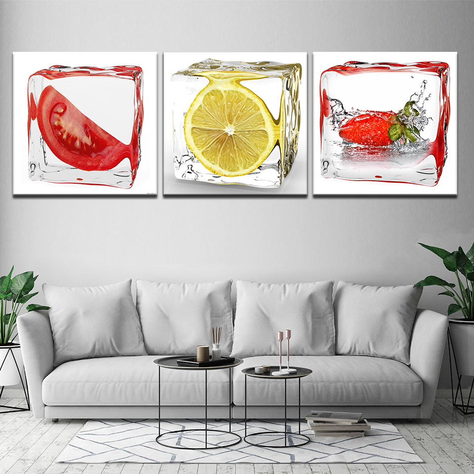Dining Room Art Prints: 3 Piece Modern Wall Art Dining Room Decorative Pictures