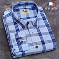 100% cotton men dress shirt brand striped man spring autumn long sleeve casual shirts plaid mens slim fit shirting easy iron