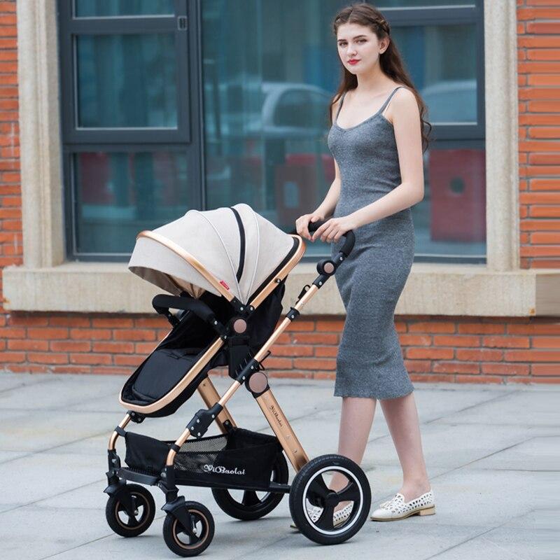 YIBAOLAI High landscape baby stroller can sit reclining shock folding summer newborn baby stroller baby stroller цена 2017