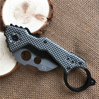 Karambit Knife Scorpion Folding Knifes 440 Blade Carbon Fiber Handle Claw Survival Hunting Camping Tactical Knives
