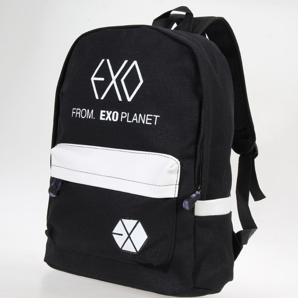 EXO FROMPLANET KRIS LUHAN SEHUN CANVAS TRAVEL BAG SCHOOLBAG BACKPACK KPOP NEW kris longknife unrelenting