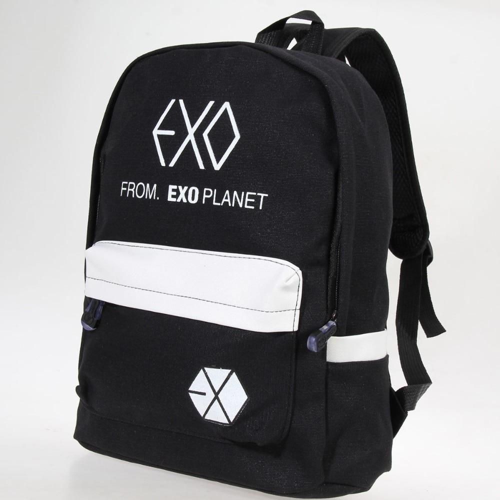 Exo Fromplanet Kris Luhan Sehun Canvas Travel Bag Schoolbag Backpack New Backpacks