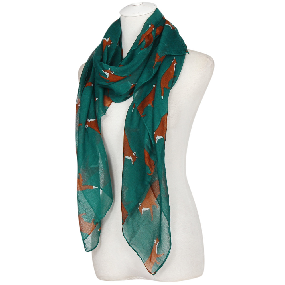 2016 new s autumn winter voile scarves fox