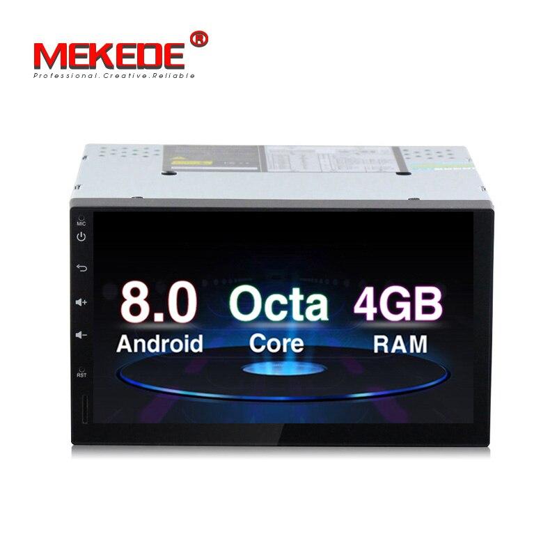 4g RAM 32g ROM Android 8.0 8 core multimédia de voiture lecteur DVD pour nissan toyota kia vw 2din universel radio stéréo livraison gratuite