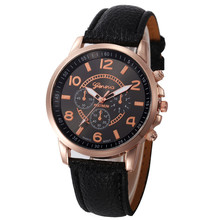 Fashion Casual Ladies Watch Women Casual Checkers Faux Leather Quartz Analog clock Wrist Watch High Quality dropp Shipping