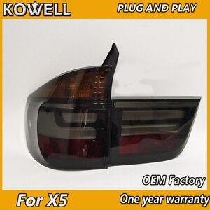 Image 5 - Kowell Styling Auto Lampada di Coda per Bmw E70 X5 Luci di Coda 2007 2013 per E70 Posteriore Luce Drl + indicatori di Direzione + Freno + Reverse