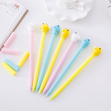 4 pcs/lot Creative Cartoon animal gel pen Kawaii students Writing Neutral pens Caneta Office School Stationery Supplies 0.38mm цена