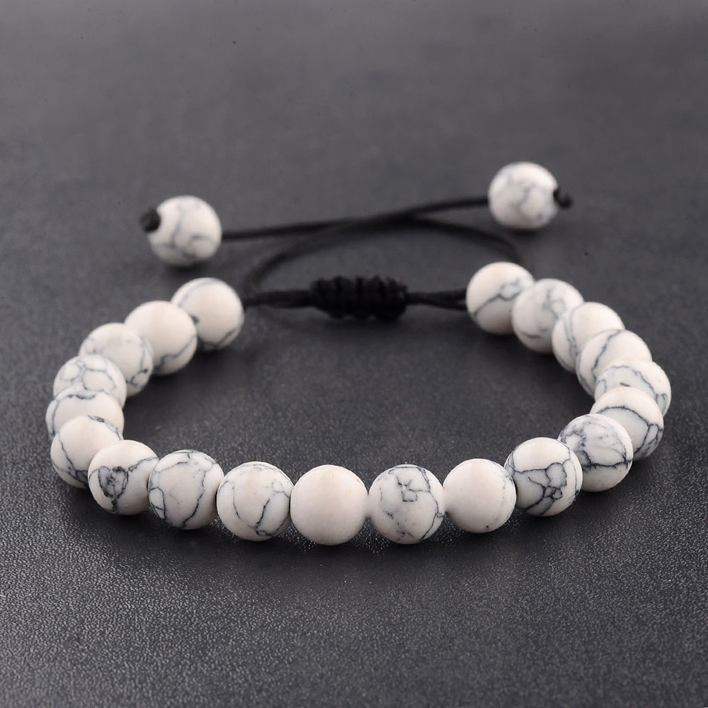 1167191b56669 2019 New Couples Men Women Beads Classic Natural Stone Beaded ...