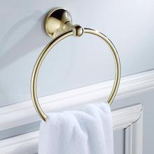 Позолоченный настенный латунный держатель для полотенец, держатель для рук, держатель для полотенец, вешалка для полотенец, аксессуары для дома и ванной комнаты, инструмент
