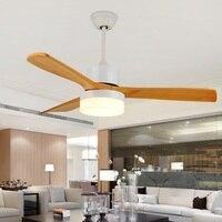 Современный минималистский светодиодный потолочный вентилятор деревянный лист вентилятор охлаждения свет дистанционного вентилятор лам