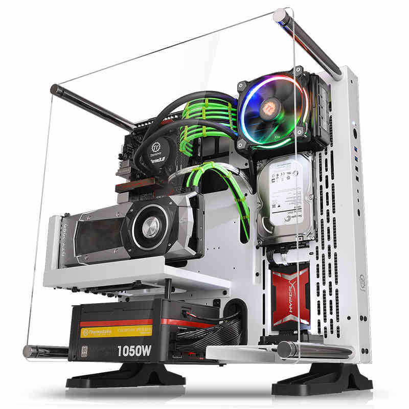 Tt chassis Core P3 wall-mounted perspective panoramic open water-cooled chassis computer main chassis ...