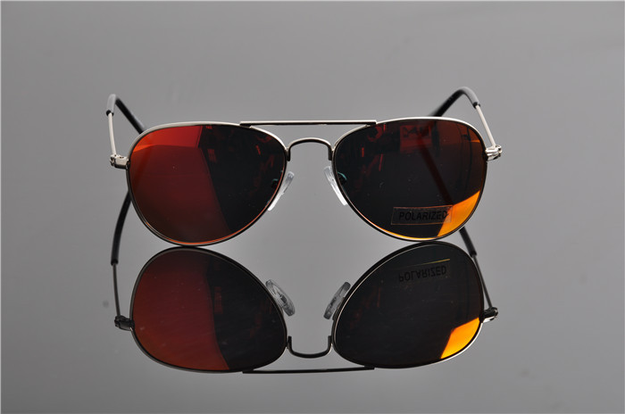 Детская UV400 поляризованные со специальным покрытием для гонок солнечные Горячие модная детская одежда пилота зеркала солнцезащитные очки с Чехол Ткань EV0831 - Цвет линз: red lens