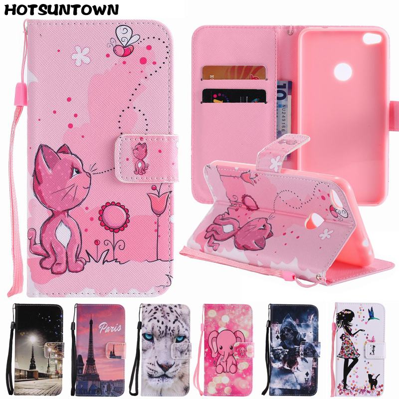 For Hoesje Huawei P8 Lite 2017 Case Leather Wallet Flip Cover For Huawei P8 Lite 2017 Phone Case Cover Stand with Card Holder