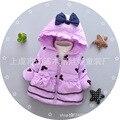 Meninas Outerwear meninas Do Bebê roupas de algodão das crianças Novas de Inverno casaco quente Crianças casaco colete quente para 1-4 anos de idade