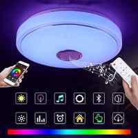 Moderno HA CONDOTTO LA Luce RGB Smart Blutoot h Musica Luce di Soffitto di Dimmable 48W APP di Controllo Remoto Luce per Per Soggiorno camera Da Letto