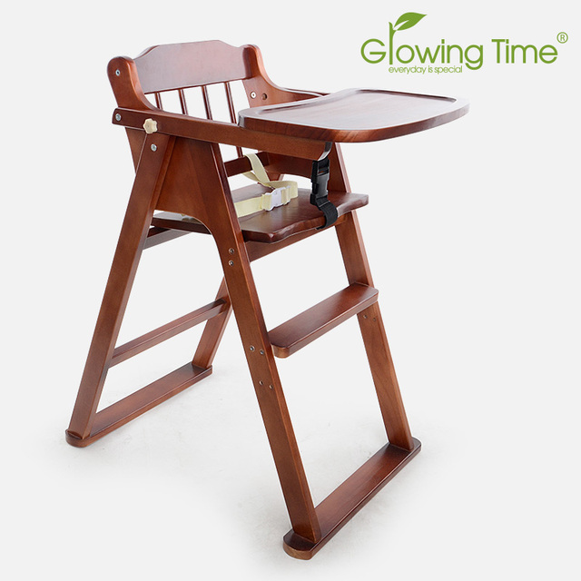 1 10 Years Folding Baby Chairs For Dining Solid Wood Baby High Chair  Feeding Tragbarer