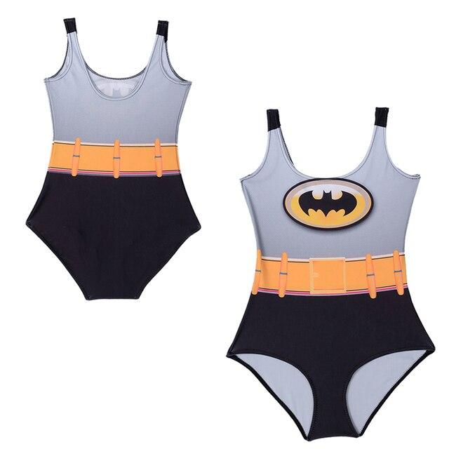 5fa614c0e317d Super Hero Batman Sexy 1 One Piece Swimsuit Women Cosplay Batman Swimwear  Low Cut Back Bathing Suit Swim Wear Female Monokini