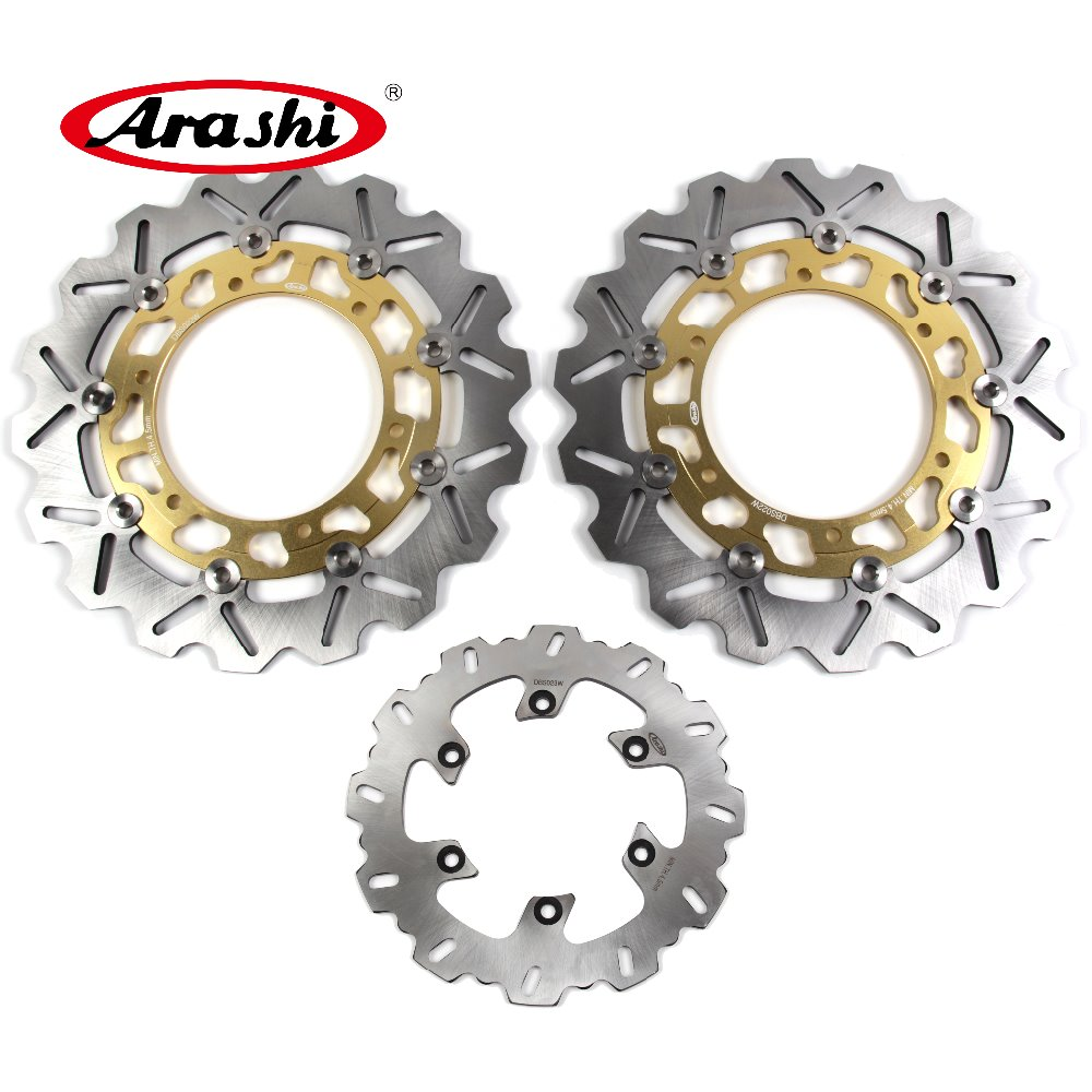 Arashi 1 Set YZF R1 1998-2001 CNC Front Rear Brake Disc Rotors For YAMAHA YZF R1 1000 1998 1999 2000 2001 TDM900 XJN600 XJS цена