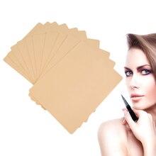 10 шт./упак. постоянный макияж бровей Губы 20×15 см Бланк Skin Практика татуировки лист для иглы машина Supply Kit Прямая доставка