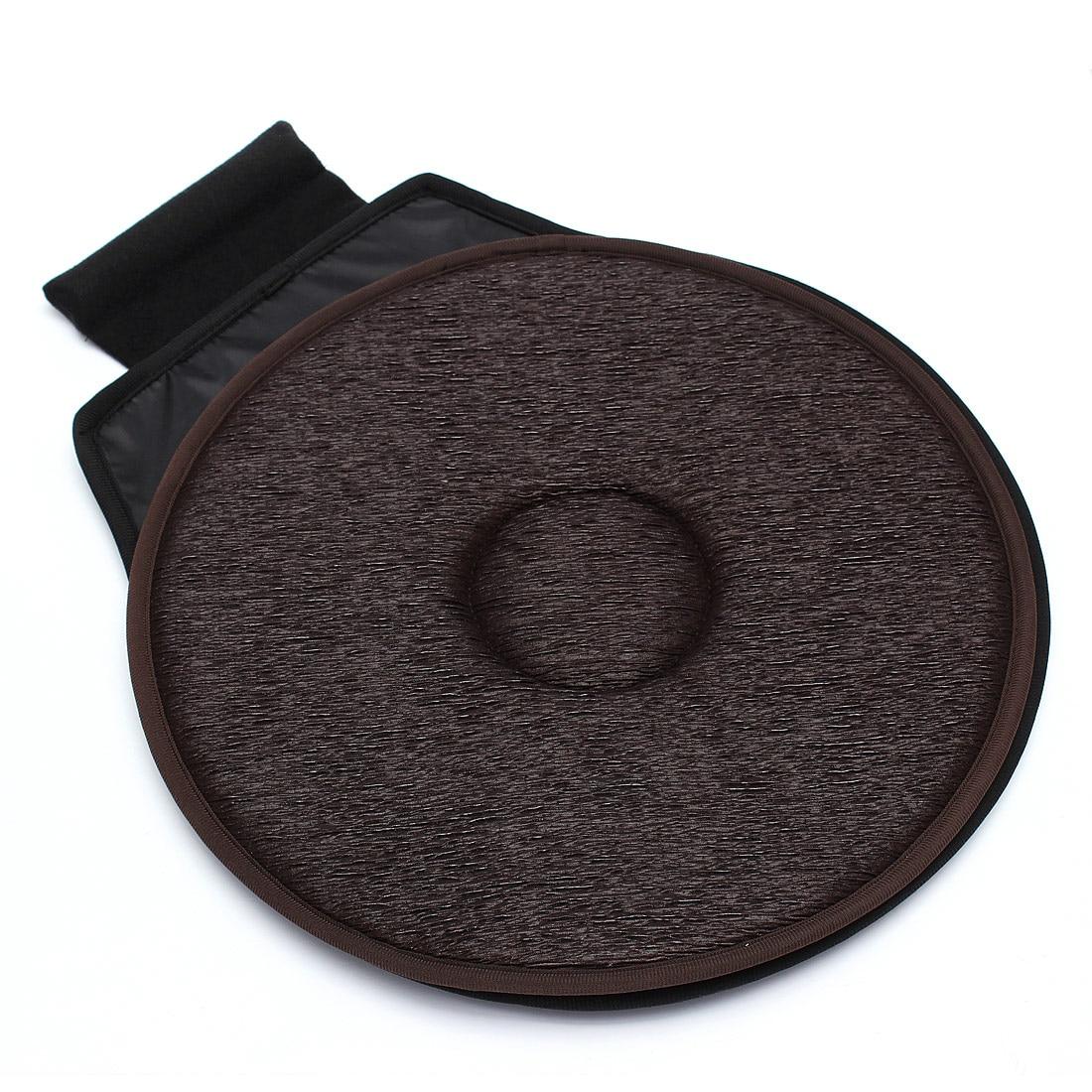 Antideslizante asiento de coche giratorio rotación giratoria cojín de espuma ayuda a la movilidad asiento en la silla empate en Pad Dark marrón-enlace VIP