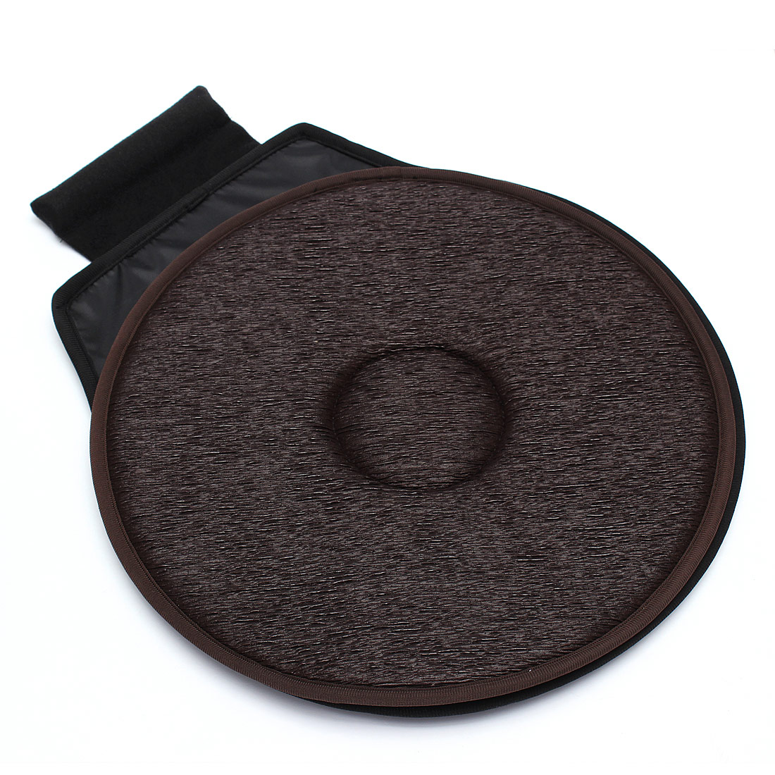 Non-slip Car Seat Revolving Rotating Cushion Swivel Foam Mobility Aid seat cushion in chair Tie On Pad Dark brown-VIP link