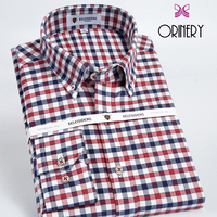 ORINERY Hot Sale Plaid Mens Shirt Fashion Long Sleeve Camisa Masculina Casual Button Down Shirt High Quality Flannel Shirt