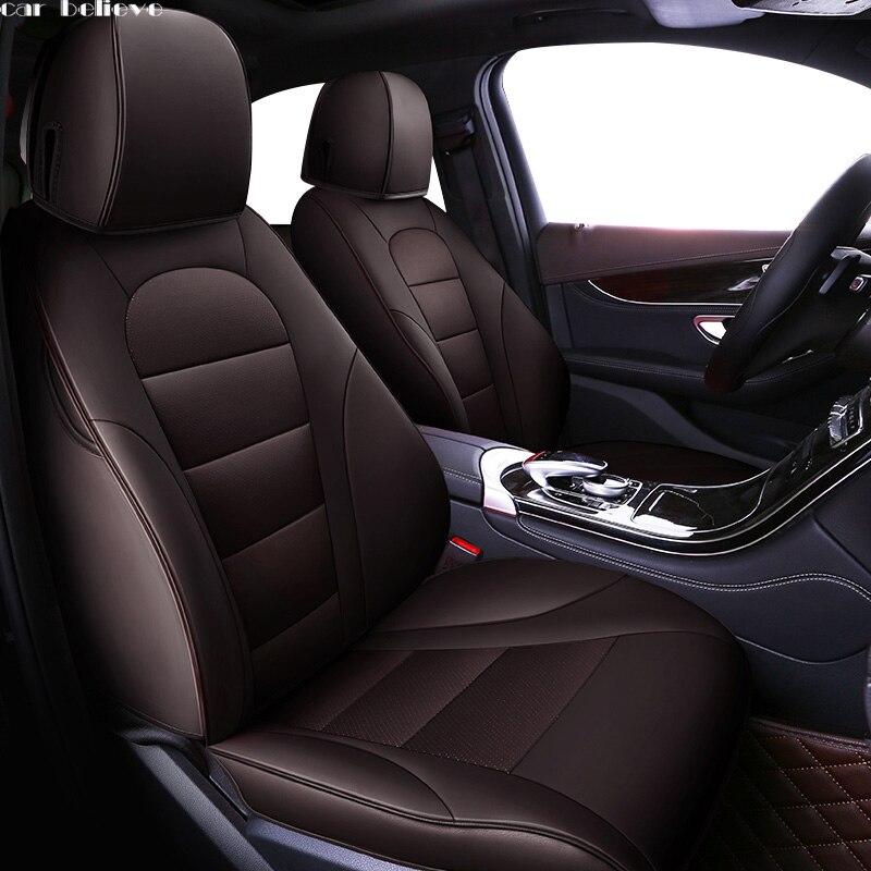 Acredito Que tampa de assento do carro do carro Para audi a3 sportback 8 p 8l A4 A6 A5 Q3 Q5 Q7 acessórios de cobre para o assento do veículo