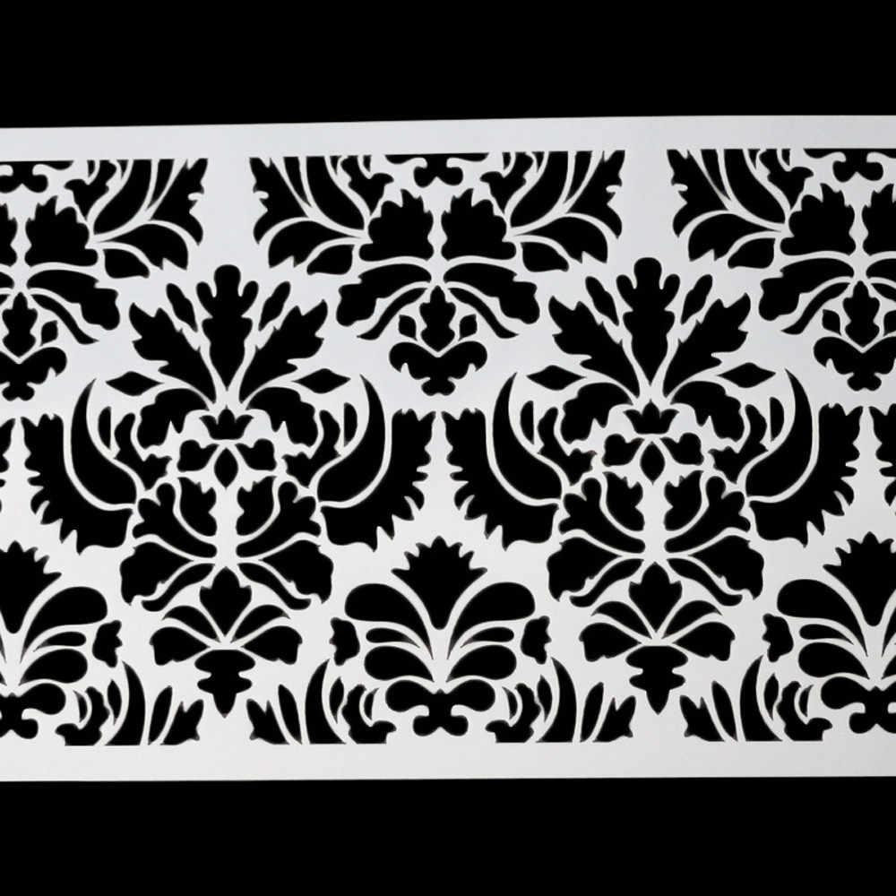 Cozinha ferramentas bolo fondant molde Decoração Molde Ferramenta de Cozimento Lado Flor Do Damasco Do Laço Fronteira Fondant Bolo Stencil