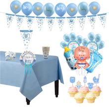 Baby Shower Boy Girl Party Decorations Set Its a Boy/Girl oh baby Balloons Gender Reveal Kids Birthday Supply