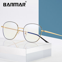 BANMAR Metal Anti Blue Light Blocking Glasses Frame Men Women Computer Games Goggles Eyeglasses Optical Spectacle Frame A2101(China)