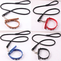 Dog Collar Pet Name and Phone No. Engraving Tag Leather Buckle Neck Strap Necklace Free Shipping