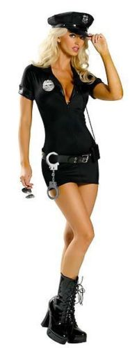 Sexy Spandex Police Costume Stop Traffic Cop Dresses Sexy -2028
