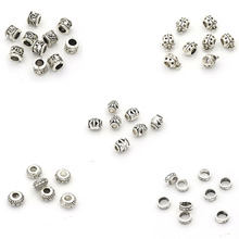 лучшая цена Silver Metal Hole European Loose Beads For Jewelry Finding Handmake Diy Necklace Bracelet Needlework Accessories Wholesale