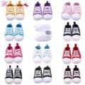 Классические спортивные кроссовки из парусины для новорожденных мальчиков и девочек  обувь для начинающих ходить  нескользящая детская об...
