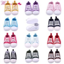 Canvas Classic Sports Sneakers Newborn Baby Boys Girls First Walkers Shoes Infant Toddler Soft Sole Anti-slip Baby Shoes S3(China)